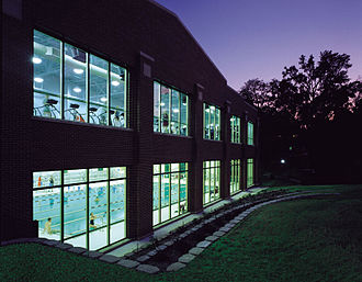 Centenary College of Louisiana - The Centenary Fitness Center provides exercise equipment, two racquetball courts, an aerobics room, a dance studio, an indoor running track, free-weights area, and a 25-yard, six-lane pool.