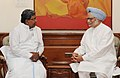 The Chief Minister of Karnataka, Shri K. Siddaramaiah calling on the Prime Minister, Dr. Manmohan Singh, in New Delhi on May 16, 2013.jpg