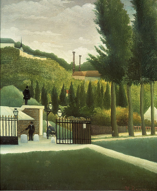 The Customs Post, c. 1890; by Henri Rousseau The Customs Post by Henri Rousseau c1890.jpg