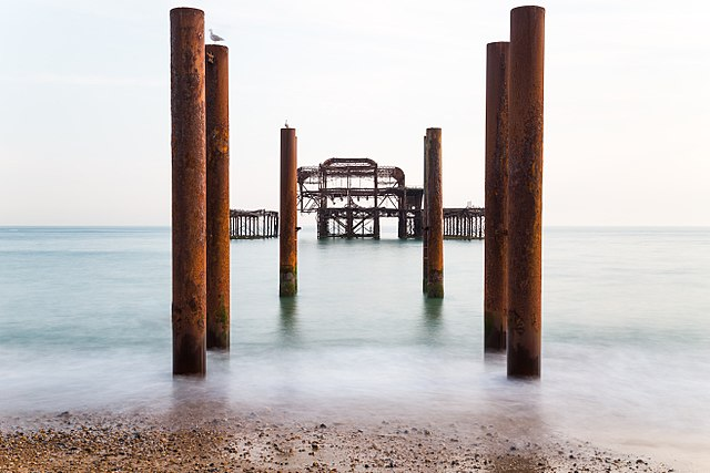 Derelict Brighton West Pier, 1st Prize winner of Wiki Loves Monuments UK 2017