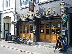 Frederiksgade, Aarhus - Image: The Golden Lion Pub