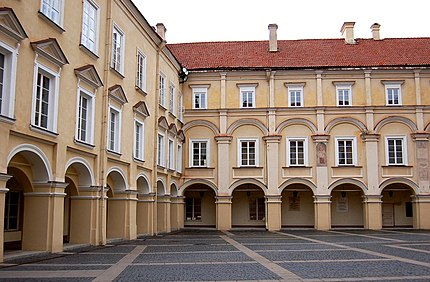 The Grand Courtyard of Vilnius University The Grand Courtyard of Vilnius University.Lithuania.jpg