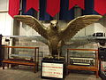 The Great Exhibition Hall - Century of Trams Exhibition - National Tramway Museum - Crich - model trams - Falcon sculpture (15194379417).jpg