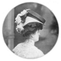 The Illustrated Milliner, Volume 7, Issue 6, June 1906 - A Leghorn plateau with an added crown of black Neapolitan.png