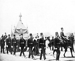 The Mahmal which Conveyed the Holy Carpet to Mecca Surrounded by Cairo Police. (1911) - TIMEA.jpg