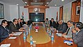 The Minister of Labour of the Kingdom of Bahrain, Mr. Jameel Mohammed Ali Humaidan alongwith a delegation meeting the Union Minister for Labour and Employment, Shri Mallikarjun Kharge, in New Delhi on February 19, 2013.jpg