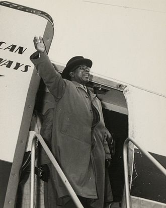 Cabinet Crisis of 1964 in Malawi - Hastings Banda, pictured on a visit to Tanzania in the 1960s, was at the heart of the Cabinet Crisis of 1964