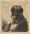 The Old Bearded Man in a High Fur Cap, with Eyes Closed MET DP814538.jpg