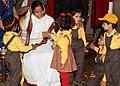 The President, Smt. Pratibha Devisingh Patil with the children from various school on the occasion of Children's Day, at Rashtrapati Bhavan, in New Delhi on November 14, 2010.jpg