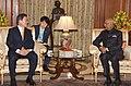 The President of the Republic of South Korea, Mr. Moon Jae-in meeting the President, Shri Ram Nath Kovind, at Rashtrapati Bhavan, in New Delhi on July 10, 2018.JPG