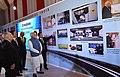 The Prime Minister, Shri Narendra Modi and the Prime Minister of Japan, Mr. Shinzo Abe visit the Exhibition, at Mahatma Mandir, in Gandhinagar, Gujarat on September 14, 2017 (2).jpg