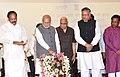 The Prime Minister, Shri Narendra Modi at the foundation stone laying ceremony of Pradhan Mantri Awas Yojana, at Naya Raipur, in Chhattisgarh.jpg