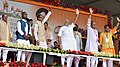The Prime Minister, Shri Narendra Modi at the public meeting to mark launch of 70th Freedom Year Celebrations, in Bhabra village, Alirajpur district, Madhya Pradesh (1).jpg
