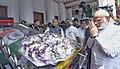 The Prime Minister, Shri Narendra Modi pays tributes at the mortal remains of Kalaignar Karunanidhi, in Chennai on August 08, 2018.JPG