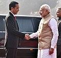 The Prime Minister, Shri Narendra Modi with the President of Indonesia, Mr. Joko Widodo at the ceremonial welcome, at Rashtrapati Bhavan, in New Delhi on December 12, 2016.jpg