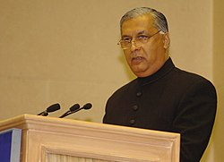 Speaking at the SAARC summit in New Delhi, 2007 (Image: MEA)