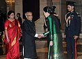 The Prime Minister of Thailand, Ms. Yingluck Shinawatra meeting the President, Shri Pranab Mukherjee on the sidelines of the ASEAN-India Commemorative Summit, 2012, at Rashtrapati Bhavan, in New Delhi on December 20, 2012.jpg