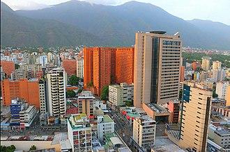 Caracas - The geographic center of the Metropolitan Area of Caracas, Sabana Grande shopping district