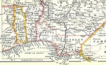 Togo-Europeisk koloni-Fil:The Slave Coast on a John Bartholomew & Co. map published c. 1914 (part)