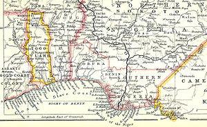 coast of africa map Slave Coast Of West Africa Wikipedia coast of africa map