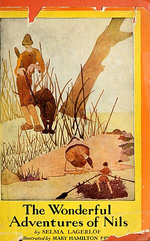 The Wonderful Adventures of Nils - Cover art by Mary Hamilton Frye (1936)