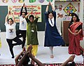 The Union Minister for Women and Child Development, Smt. Maneka Sanjay Gandhi taking part in Yoga session with Anganwadi Children and kick start International Day of Yoga celebration at all the Anganwadis, in New Delhi (1).jpg