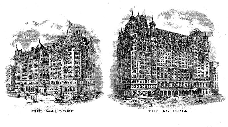 The Waldorf and The Astoria Hotels, New York City c1915