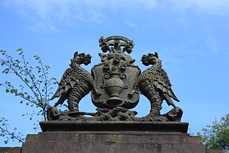 The Howff - The crest over the entrance, the Howff Cemetery, Dundee