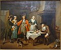 The marriage contract, Jan-Joseph Horemans, undated, oil on canvas - Villa Vauban - Luxembourg City - DSC06608.JPG