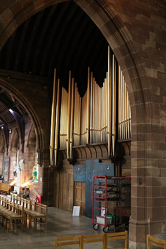 St Martin in the Bull Ring - The organ screen in the north transept