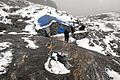The place to stay on the pass Mera La 5350m. 8th day of hike. Heavy fog. GPS place is the exact. - panoramio.jpg