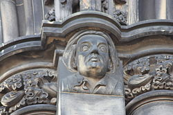 The poet James Thomson as depicted on the Scott Monument.JPG