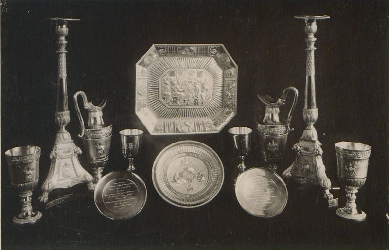 File:The silver plate used at the Communion Service in the Cathedral Church of the Holy Trinity of Quebec (HS85-10-13409).jpg