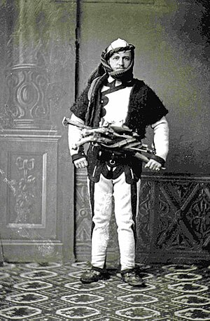 Albanology - Austrian Theodor Ippen in Shkodër with traditional costume. (1900)