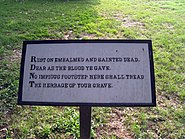 Theodore O'Hara Bivouac of the Dead Panel 5 at Fredericksburg National Cemetery