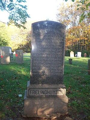 Theodorus Jacobus Frelinghuysen - Cenotaph in Elm Ridge Cemetery, North Brunswick erected in 1884