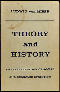 <i>Theory and History</i> book by Ludwig von Mises