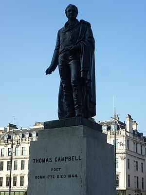 Thomas Campbell (poet) - Thomas Campbell statue in George Square, Glasgow