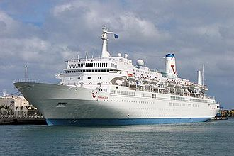 Marella Cruises - MS Marella Spirit as Thomson Spirit in harbour in the Canary Islands in April 2005