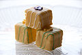 Three yellow Easter petits fours.jpg
