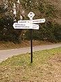 Throop, signpost at Throop Clump crossroads - geograph.org.uk - 1707634.jpg