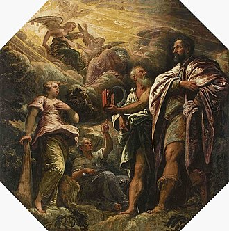 Morality - Allegory with a portrait of a Venetian senator (Allegory of the morality of earthly things), attributed to Tintoretto, 1585