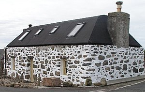 Tiree - A restored 'spotted house'.