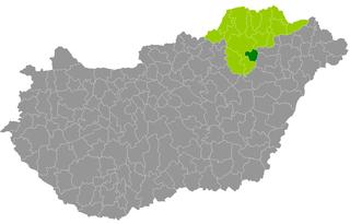 Tiszaújváros District Districts of Hungary in Borsod-Abaúj-Zemplén