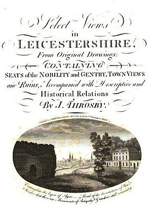 John Throsby - Title page of Thorsby's Supplementary Volume to the Leicestershire Views, containing a Series of Excursions to the Villages and Places of Note in that County, 1790