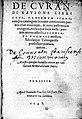Title page of 'De curandi ratione libri octo,..' Wellcome L0000020.jpg