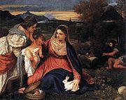 La Vierge au lapin du Titien