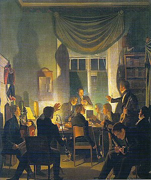 Hip, Hip, Hurrah! - Tobaksselskab (Smoking Party), Wilhelm Bendz, 1828