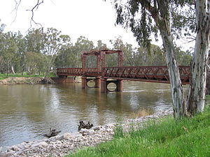 Tocumwal railway station - Image: Tocumwal Rail Bridge