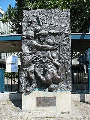 Deutsche Oper Berlin - Ohnesorg memorial by Alfred Hrdlicka